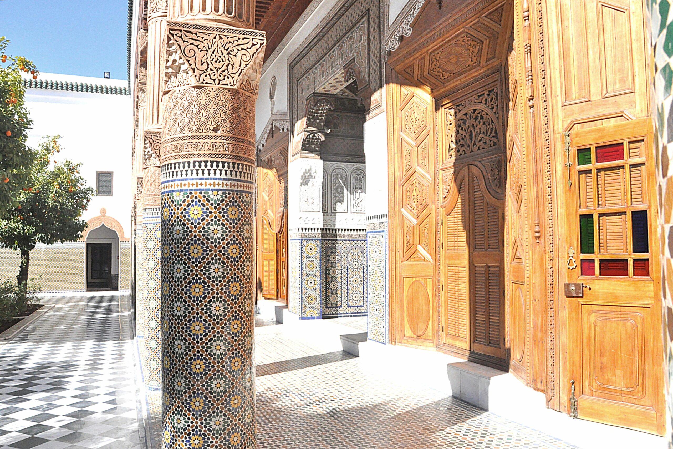 2000 years of Moroccan history at Dar El Bacha museum Marrakech